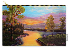 The Liquid Fire Of A Painted Golden Sunset Carry-all Pouch