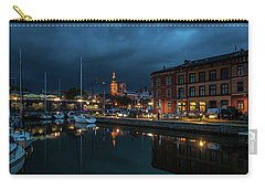The Little Harbor In Stralsund Carry-all Pouch by Martina Thompson