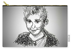 Carry-all Pouch featuring the drawing The Little Rapper by Denise Fulmer