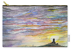 Carry-all Pouch featuring the digital art The Living Sky by Darren Cannell