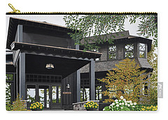 Carry-all Pouch featuring the painting The Lodge At Fawn Island by Kenneth M Kirsch