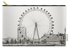 The London Eye Carry-all Pouch by Vincent Alexander Booth