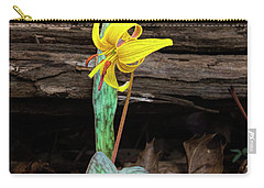 The Lone Trout Lily Carry-all Pouch by Barbara Bowen