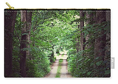 Carry-all Pouch featuring the photograph The Long Driveway by Karen Stahlros