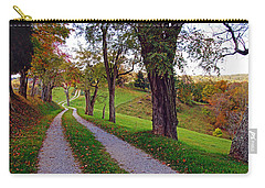 The Long Road In Autumn Carry-all Pouch