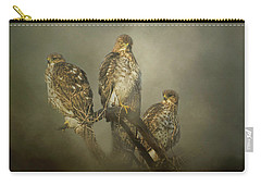 Carry-all Pouch featuring the digital art The Lookouts by Nicole Wilde