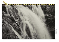 Carry-all Pouch featuring the photograph The Loup Of Fintry In Black And White by Jeremy Lavender Photography