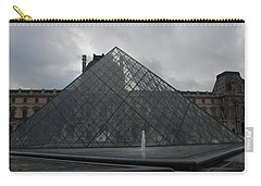 The Louvre And I.m. Pei Carry-all Pouch by Christopher Kirby