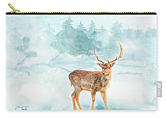 Carry-all Pouch featuring the painting The Magic Of Winter  by Colleen Taylor