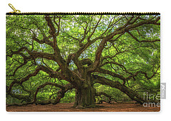 The Magical Angel Oak Tree Panorama  Carry-all Pouch by Michael Ver Sprill