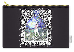Carry-all Pouch featuring the painting The Magician by Lise Winne