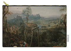 The Magpie On The Gallows Carry-all Pouch by Pieter Bruegel the Elder