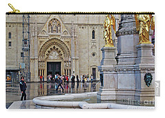 The Main Portal Of Zagreb Cathedral Carry-all Pouch