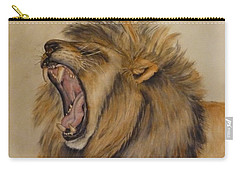 Carry-all Pouch featuring the painting The Majestic Roar by Kelly Mills