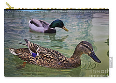 Carry-all Pouch featuring the photograph The Mallard Pair by Mary Machare