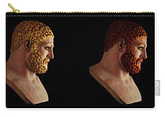 Carry-all Pouch featuring the mixed media The Many Faces Of Hercules by Shawn Dall