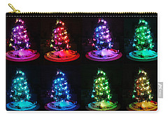 The Many Moods Of Christmas Trees Carry-all Pouch by Denise Fulmer