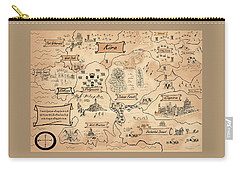The Map Of The Enchanted Kira Carry-all Pouch