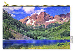 The Maroon Bells Carry-all Pouch by Dominic Piperata