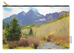 Carry-all Pouch featuring the photograph The Maroon Bells Reimagined 3 by Eric Glaser