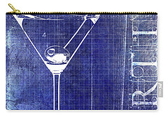 The Martini Patent Blue Carry-all Pouch by Jon Neidert