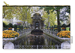 The Medici Fountain At The Jardin Du Luxembourg In Paris France. Carry-all Pouch