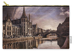 The Medieval Old Town Of Ghent  Carry-all Pouch by Carol Japp