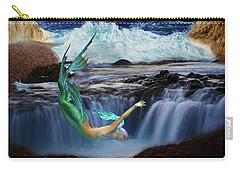 Carry-all Pouch featuring the digital art The Mermaids Secret Lair by John Haldane