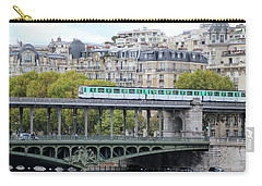 Carry-all Pouch featuring the photograph The Metro On The Bridge by Yoel Koskas