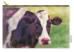 Carry-all Pouch featuring the photograph The Milk Maid by Lois Bryan