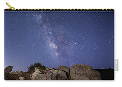 The Milky Way And A Meteor Carry-all Pouch