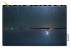 Carry-all Pouch featuring the photograph The Milky Way And The Egret by Mark Andrew Thomas