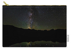 Carry-all Pouch featuring the photograph The Milky Way At Sprague Lake by Tim Stanley