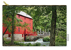 The Mill At Alley Spring Carry-all Pouch by Cricket Hackmann