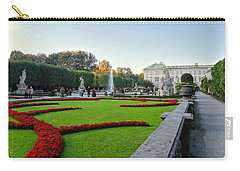 Carry-all Pouch featuring the photograph The Mirabell Palace In Salzburg by Silvia Bruno