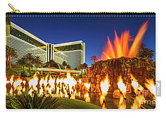 The Mirage Casino And Volcano Eruption At Dusk Carry-all Pouch