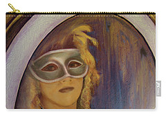 The Mirror And The Mask Portrait Of Kelly Phebus Carry-all Pouch