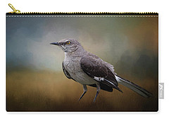 Carry-all Pouch featuring the photograph The Mockingbird A Bird Of Many Songs by David and Carol Kelly