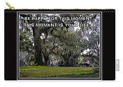 Carry-all Pouch featuring the photograph The Moment by Irma BACKELANT GALLERIES