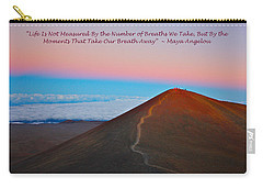 The Moments That Take Our Breath Away Carry-all Pouch by Venetia Featherstone-Witty