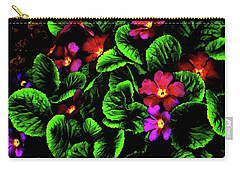 Carry-all Pouch featuring the digital art The Moody Primrose by Steve Taylor