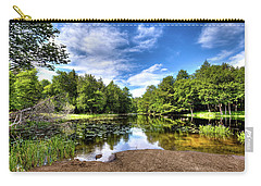 Carry-all Pouch featuring the photograph The Moose River At Covewood by David Patterson