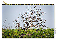 Carry-all Pouch featuring the photograph The More The Merrier- Tree Swallows  by Ricky L Jones