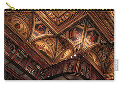 Carry-all Pouch featuring the photograph The Morgan Library Ceiling by Jessica Jenney