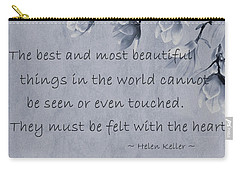 Carry-all Pouch featuring the mixed media The Most Beautiful Things In The World by Movie Poster Prints