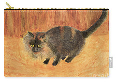 The Mouser, Barn Cat Watercolor Carry-all Pouch