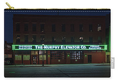 Carry-all Pouch featuring the photograph The Murphy Elevator Company by Randy Scherkenbach