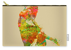 Carry-all Pouch featuring the digital art The Music Rushing Through Me by Nikki Smith