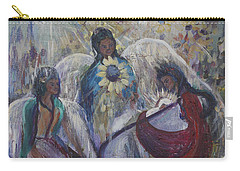 The Nativity Of The Angels Carry-all Pouch by Avonelle Kelsey