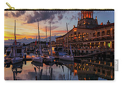 the nautical station and the yacht on the main sea channel of the Sochi seaport Carry-all Pouch